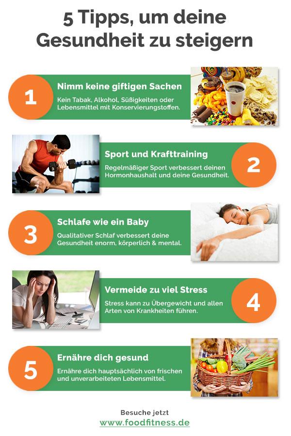 5 einfache Gesundheits- und Fitness-Tipps